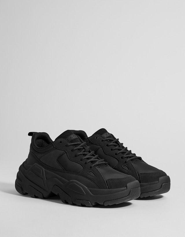 Men's monochrome XL sole trainers