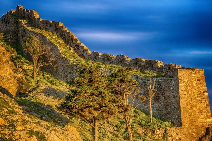 War trees - Some of the better preserved fortifications at Myrina's Fort, Lemnos isl, Greece