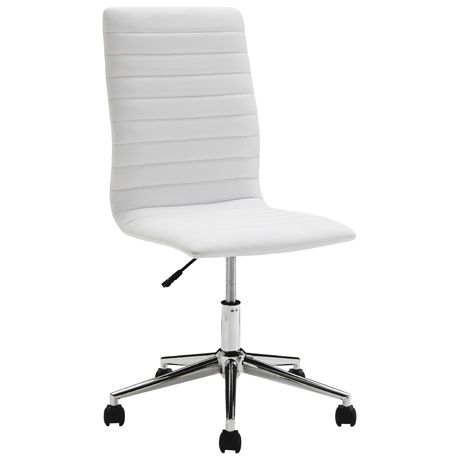 Loam Office Chair  White - Freedom Furniture