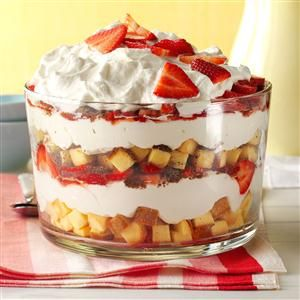 Strawberry Cheesecake Trifle Recipe from Taste of Home