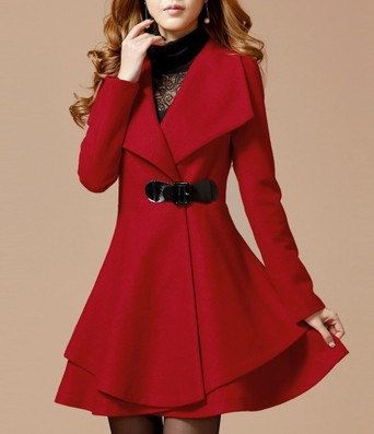 3- colors women's Princess style  dress Coat jacket Wool coat  Apring autumn winter coat jacket cute coat  overcoat  topC159
