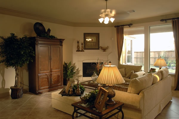 Living Room Arrangement With Corner Fireplace This Is