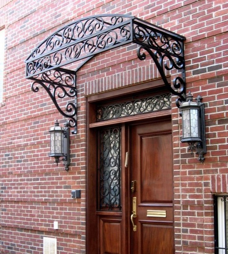 Wrought Iron Awning Door Canopy