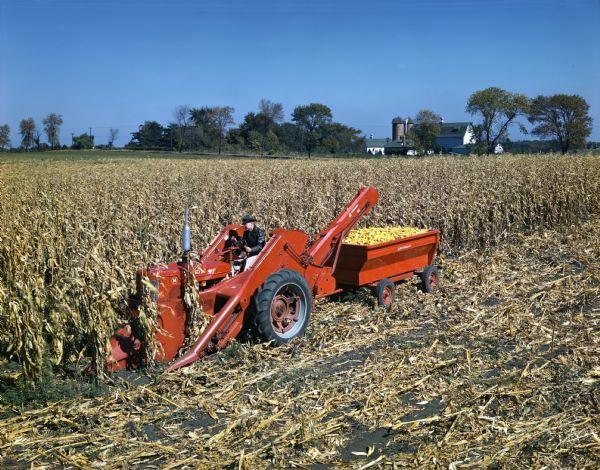 Cartoon Tractor Corn Picker : Corn picker mccormick farmall m tractor and