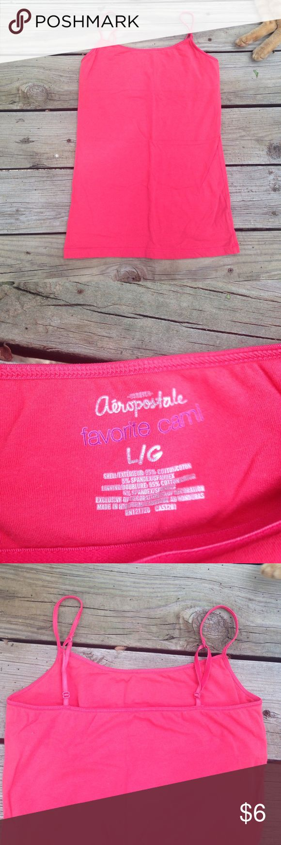 Aeropostale Pink Cami NWOT aero favorite cami. Adjustable straps and shelf bra. Size L but would fit M too. Aeropostale Tops Camisoles