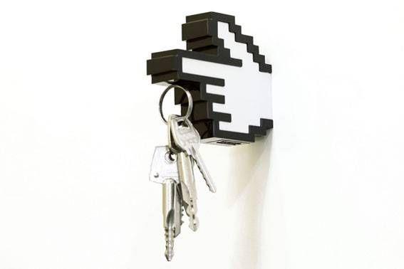Porta Chaves e Cabide 8-Bit