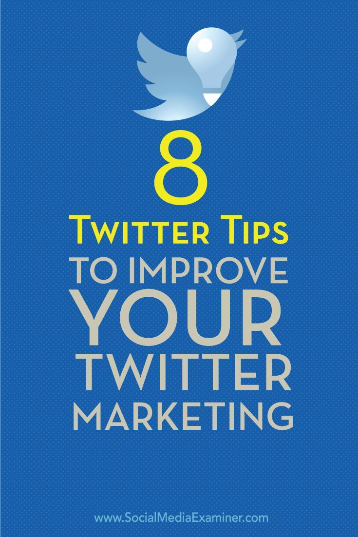 Is your Twitter marketing working?  Knowing how to write your tweets and when to publish them can increase visibility, boost engagement and drive traffic to your site.  In this article you��ll discover eight tips to deliver better tweets. Via @smexaminer