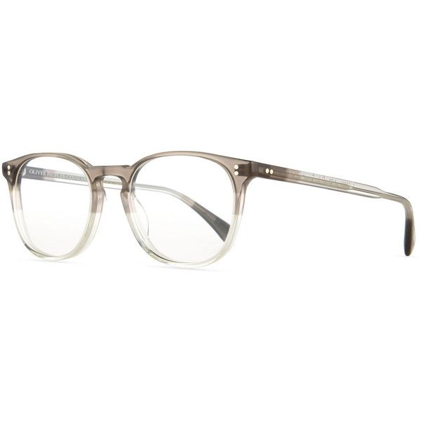 Oliver Peoples Finley Esq. 51 Optical Glasses featuring polyvore, fashion, accessories, eyewear, eyeglasses and grey