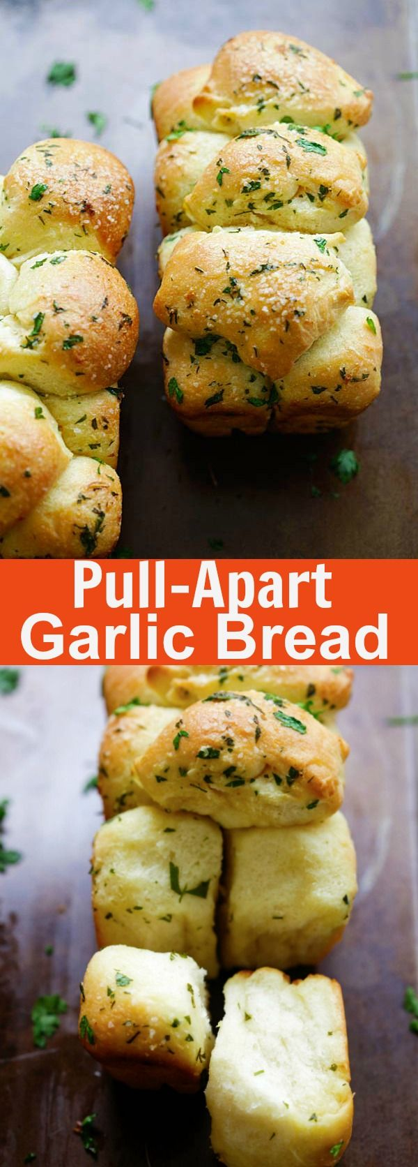 Pull Apart Garlic Bread - homemade pull apart garlic bread recipe that is easy, fool proof and yields the softest and best garlic bread ever | rasamalaysia.com