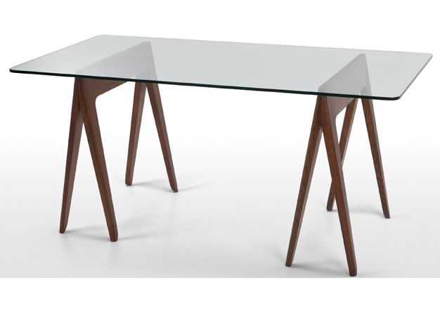 Perfect The Morton Ash And Glass Trestle Table Makes A Striking Designer Dining  Table For Up To 6 People. By James Harrison   In Solid Ash And Dark Stain.