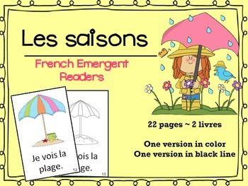 Great for working with: les saisons, l'hiver, le printemps, l'été, l'automne, je vois