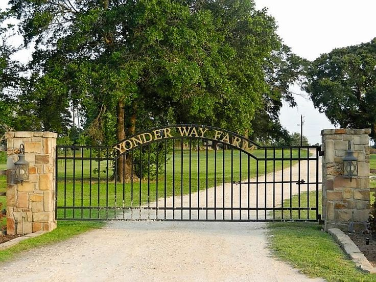 cattle ranch driveway entrances | Farm Entry Gates