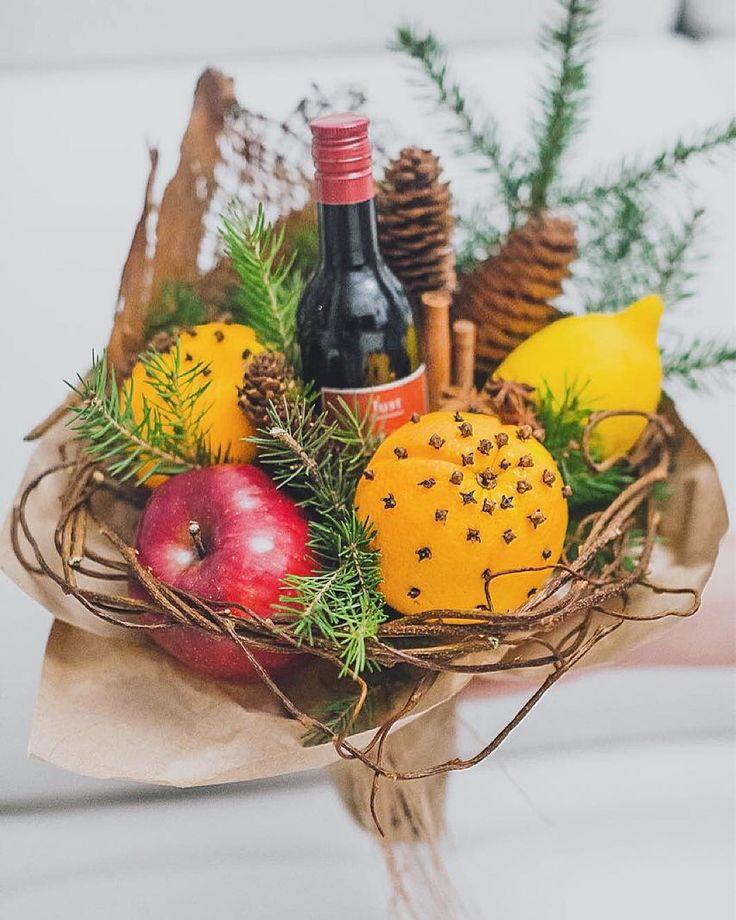 107 отметок «Нравится», 4 комментариев — Букеты из овощей и фруктов (@ohmyborsch) в Instagram: «Букет-глинтвейн это идеальный корпоративный подарок и при заказе от 5шт его стоимость составит…»