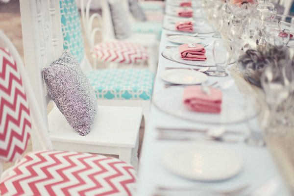 a great mix of pattern with this tablescape  Photography by brandismythphotog..., Wedding and Floral Design by thedazzlingdetail...