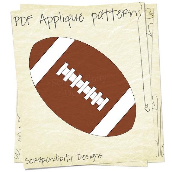 Football Applique Pattern - Sports Kids Applique Template / DIY Football Iron on Transfer / Baby Bodysuit / Sports Quilt Design / PDF. $2.00, via Etsy.