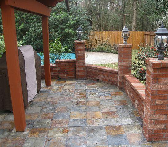 beautiful outdoor tile patio slate recipes pinterest