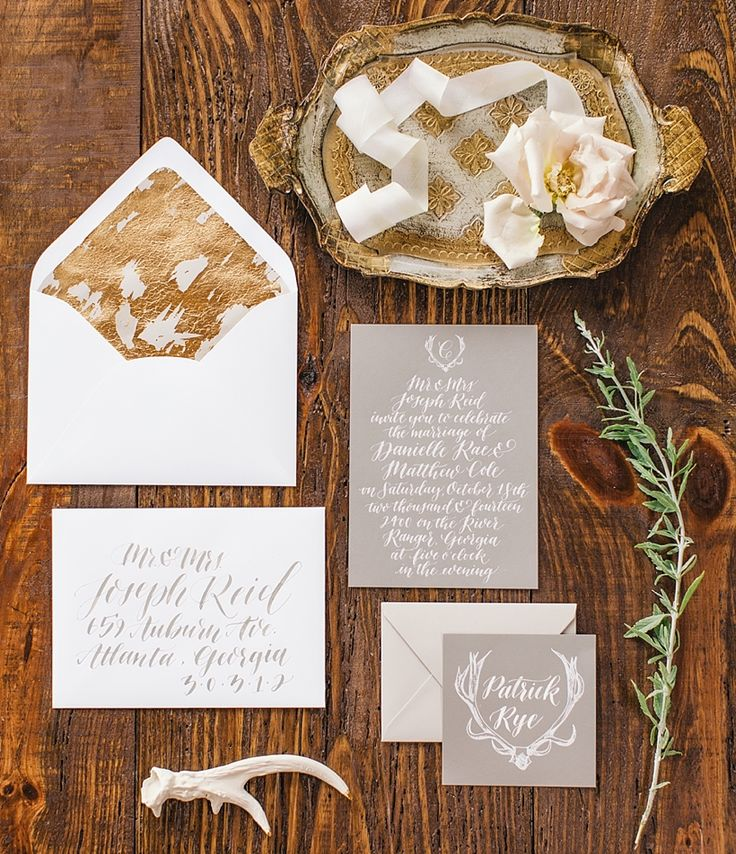 Breathtaking | classy chic paper suite | Taupe and bronze