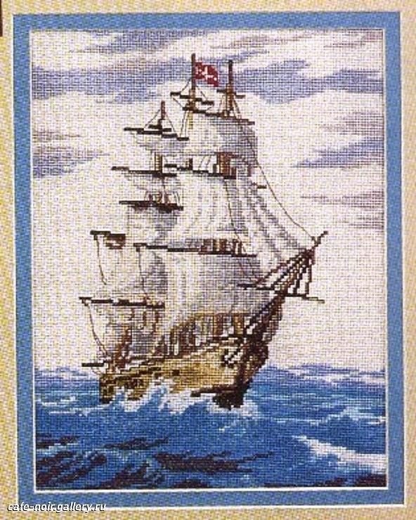 Cross stitch chart - ship