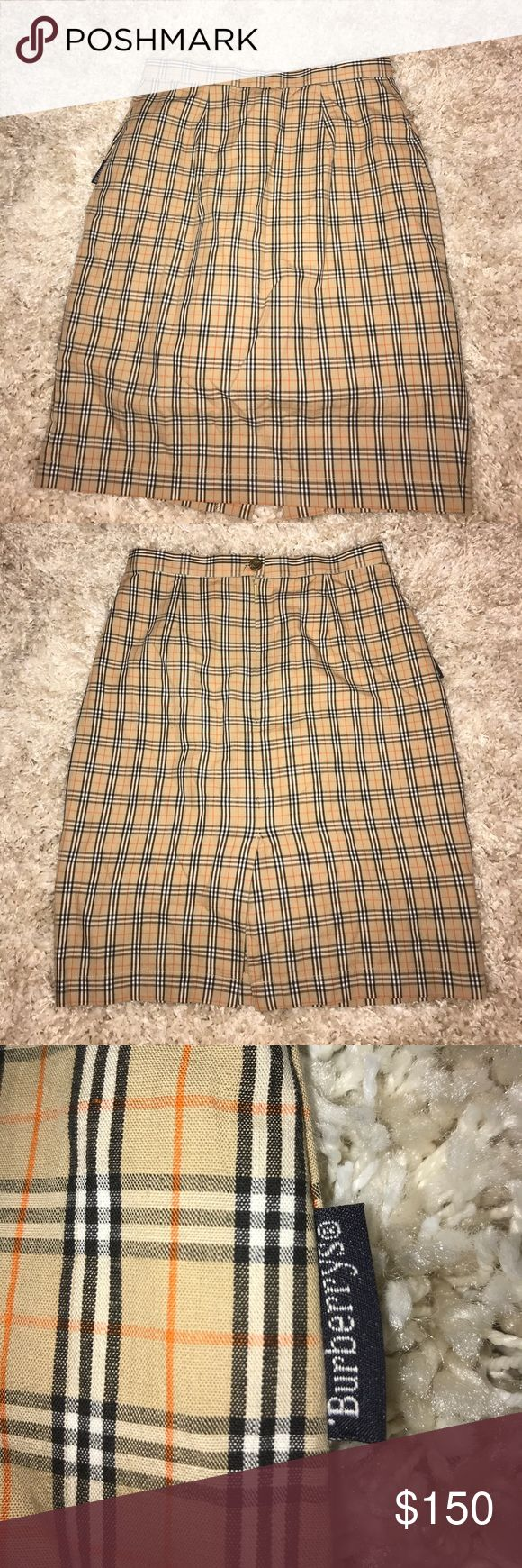 •Burberry's• Vintage Plaid Skirt Girls size 7/8. Has inner short. In perfect vintage condition. Burberry Bottoms Skirts