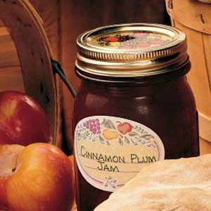 Cinnamon Plum Jam - I changed one thing. I used the plum, skin and all. I threw it in the blender and pureed.