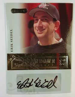 2006 Razor Poker #A- 9 Erik Seidel Showdown Signature Poker Trading Card