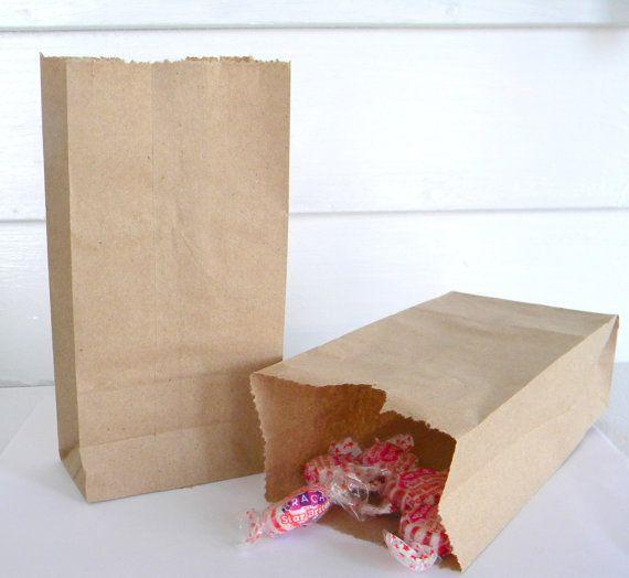 20 sacchetti di carta Kraft marrone extra Small 3.5 x