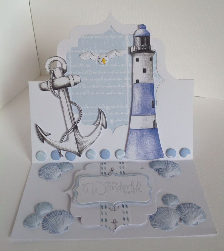 Card designed by Neil Burley using Harbour Boulevard paper pad and Easel Frame cards.