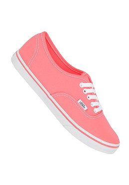 VANS Womens Authentic Lo Pro neon coral #planetsports