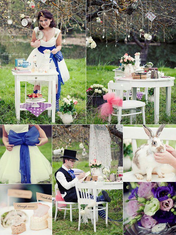 Movie wedding Ideas - Woodland Royal Blue Alice in Wonderland Fall Wedding Ideas