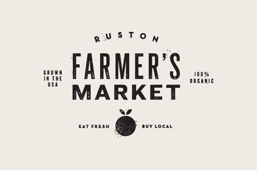 Ruston Farmer's Market Logo Design