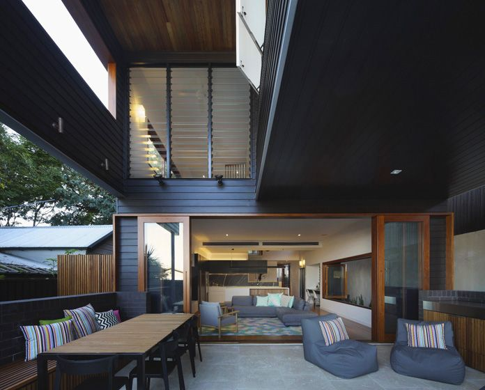 living space divided into indoor and outdoor