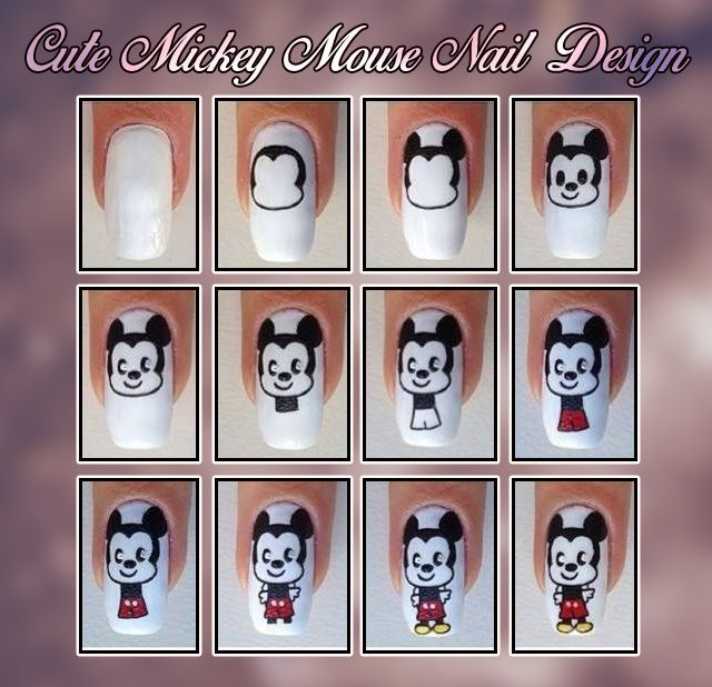Cute Mickey mouse Nail Design