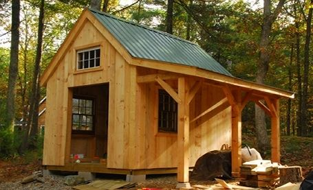 10 x 14 timber frame shed by WIlliam Cullina