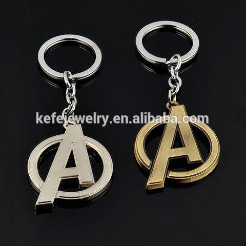 Movie The Avengers Portachiavi Keychain Metallo LOGO Keyring Custom Letter Shape Metal Keychain Wholesale