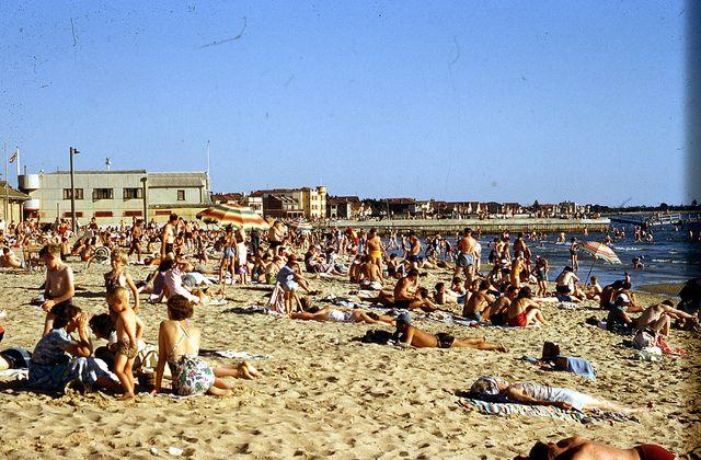 St Kilda Beach Melbourne 1950s | Flickr - Photo Sharing!