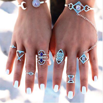 Bohemian Sapphire Midi Ring Set
