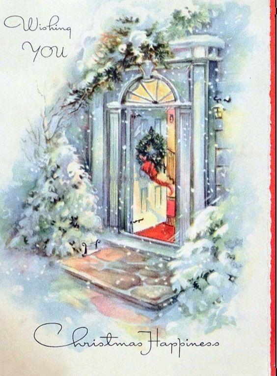 Новогодние открытки для декупажа и не только