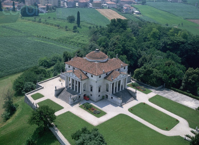 ANDREA PALLADIO: Villa Rotunda, Vicenza, Italy, 1550.  Palladio also published books on architecture. His work would have a strong influence on Neoclassical architects in years to come!