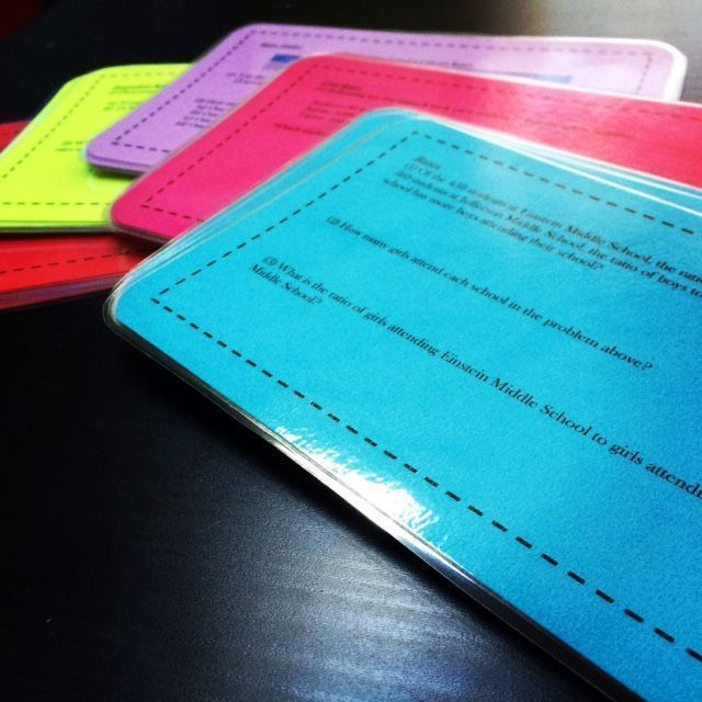 6th Grade Math Enrichment task cards - Full-Year Bundle! Includes over 160 challenging questions for over 85 topics. Subjects include fraction multiplication and division, ratios, probability, algebra, perimeter, area, volume, and more! Free sample unit (Decimals and Exponents) in my TPT store.