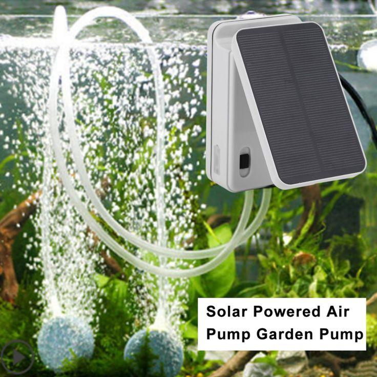0.3L/min Portable Solar Powered Air Pump Outdoor Fishing Fountain Garden Water Pump aquariums fish tank oxygenator Drop Shipping #Affiliate