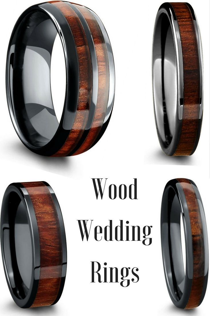 Black High Tech Ceramic Wood Rings These Make The Perfect Unique Mens Wood Wedding  Ring
