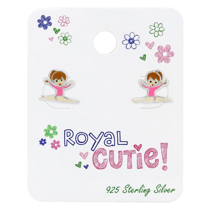 Sterling Silver Children's Gymnastic's Girl On Royal Cutie Card  #rings #silver #925 #sterling #ladies #xmas #girls #birthday #spoilurself #hoops