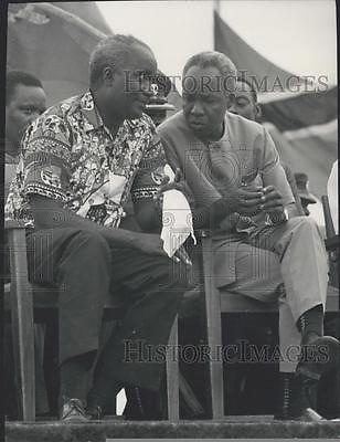 Press Photo Tanzania President Julius Nyerere, President Kaunda of Zambia