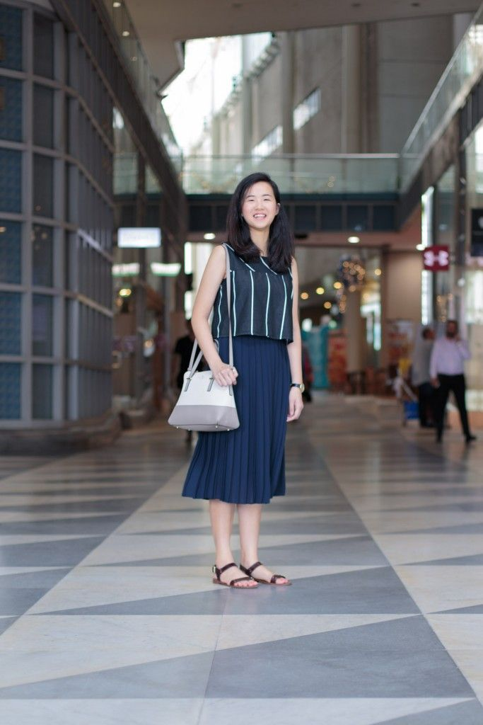 SHENTONISTA: Path Less Travelled. Amanda, Unemployed. Skirt from Uniqlo, Bag from Kate Spade, Top from ZARA, Watch from Skagen, Sandals from Charles & Keith. #shentonista #theuniform #singapore #fashion #streetystyle #style #ootd #sgootd #ootdsg #wiwt #popular #people #male #female #womenswear #menswear #sgstyle #cbd #Uniqlo #KateSpade #ZARA #Skagen #CharlesKeith