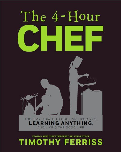 Tim Ferris is sort of outrageous, but his fearless self-experimentation led to The Four Hour Body, which my husband and I did last year from Jan-July. I lost 30 pounds and my hubs lost 60... I can't wait to see what is in his new book, The Four Hour Chef.