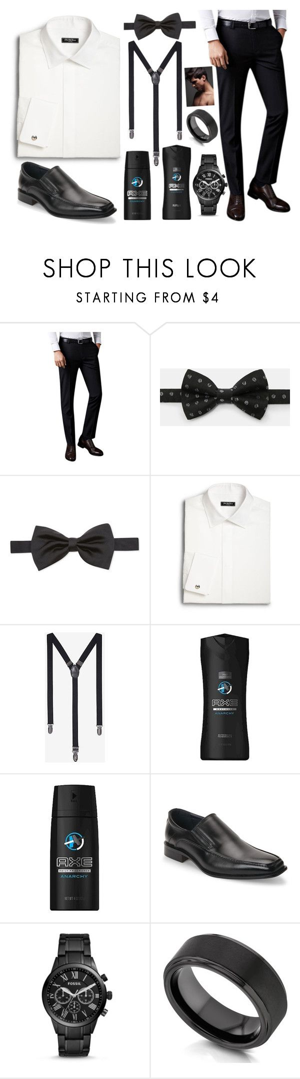 """""""No Title #200"""" by emily102901 ❤ liked on Polyvore featuring Ted Baker, Corneliani, Saks Fifth Avenue, Express, Axe, Joseph Abboud, FOSSIL, Kobelli, men's fashion and menswear"""