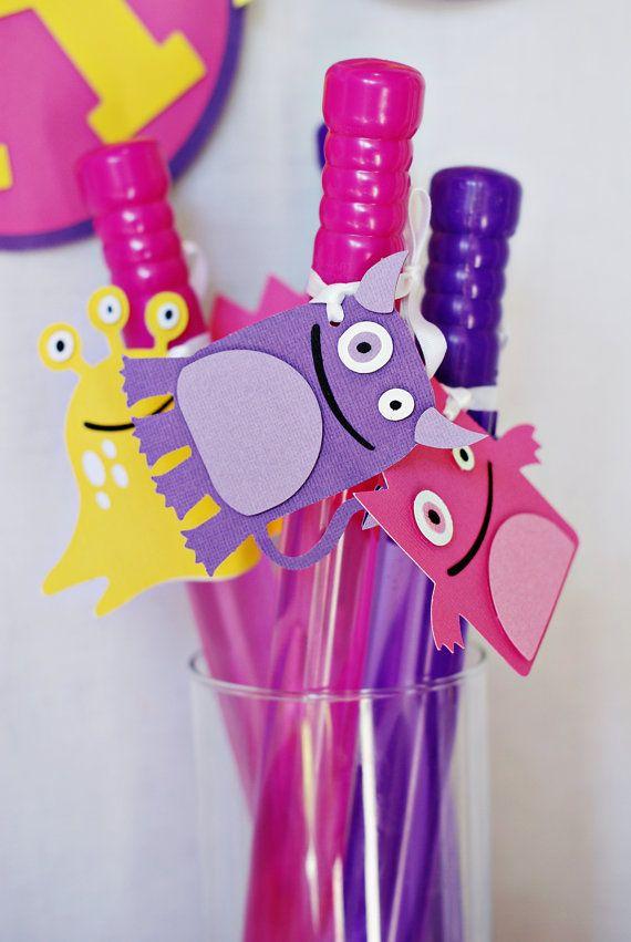 Our Little Lady Monster Party Favor Tags from @Tasha Adams Adams M Lane http://pinwheellane.etsy.com
