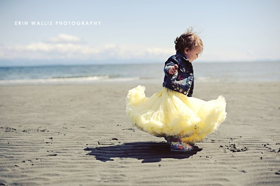 Sweetheart Pettiskirt  by Dreamspun  Lemon Yellow by DreamSpunKids, $65.00