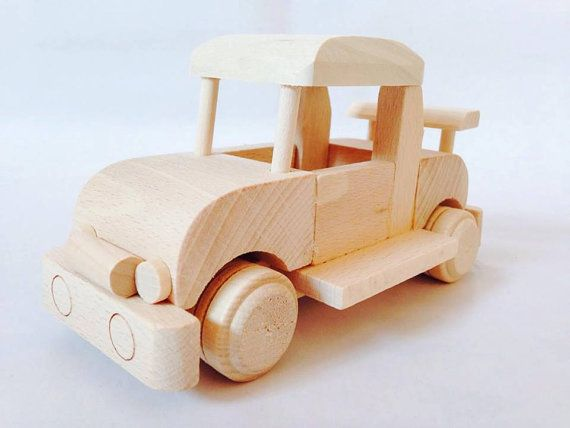 Wooden Car Toy by FriendsOfForest on Etsy