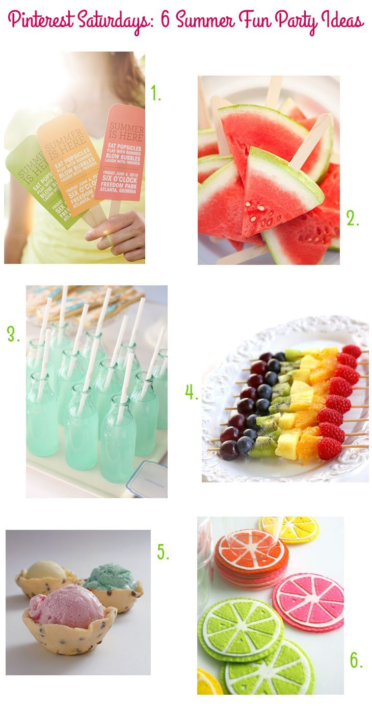 Bridal shower foods summer fun and food ideas on pinterest for Summer party menu ideas
